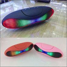 Altavoz portátil Bluetooth Wireless altavoz de la computadora luz Multi color de emisión apoyo TF tarjeta manos libres de audio doble trompeta(China (Mainland))