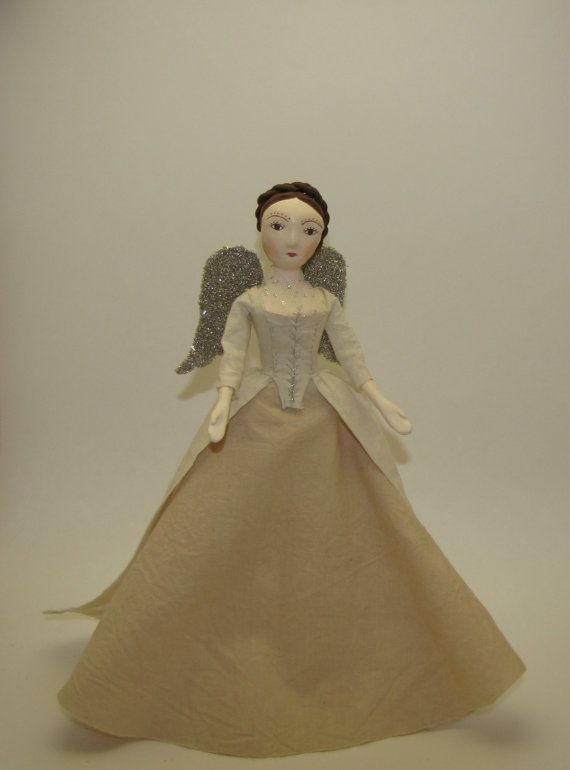 Queen Anne inspired angel tree topper