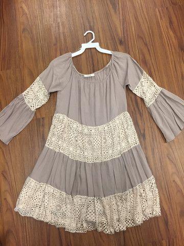 Off Shoulder Dress with Crochet Detail