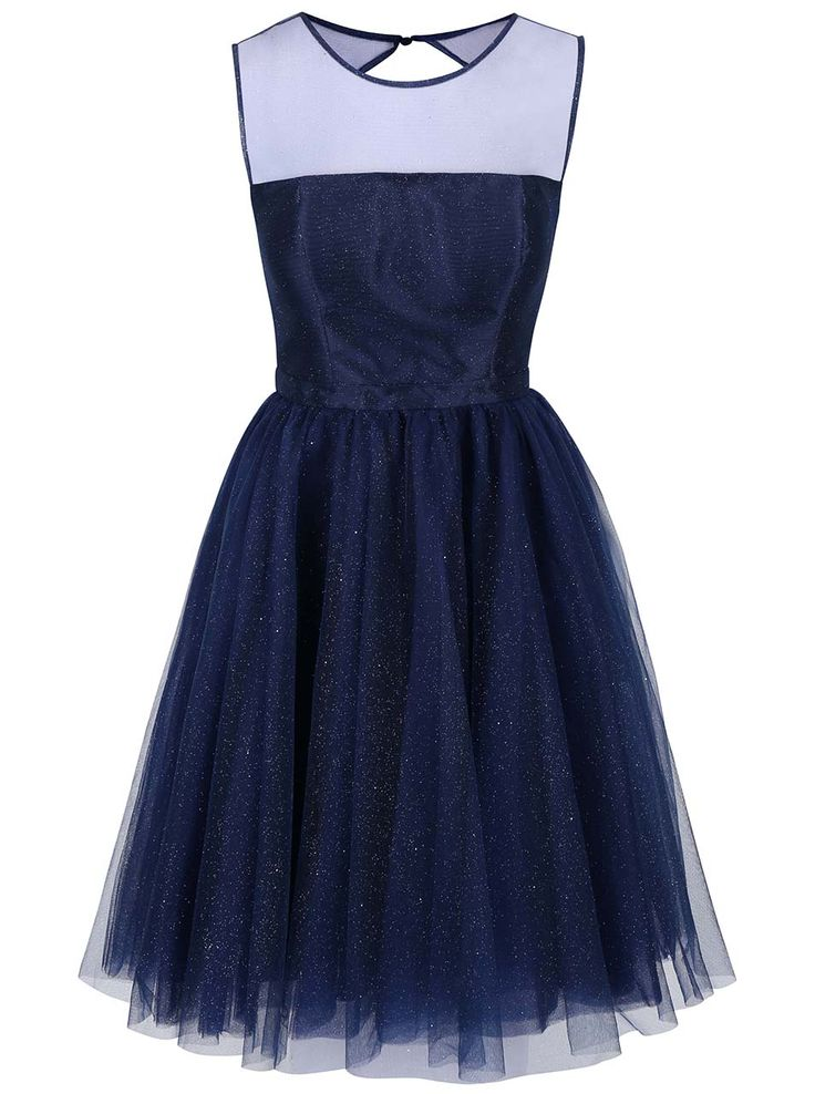 Tmavě modré třpytivé šaty Chi Chi London Jaime
