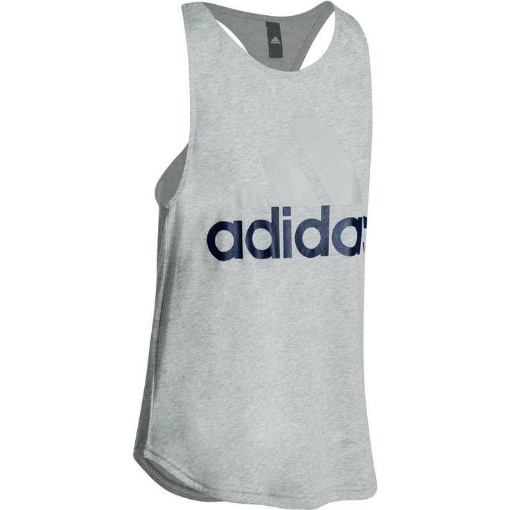 15,00€ - Fitness_Bekleidung - Top Fitness Damen grau - ADIDAS