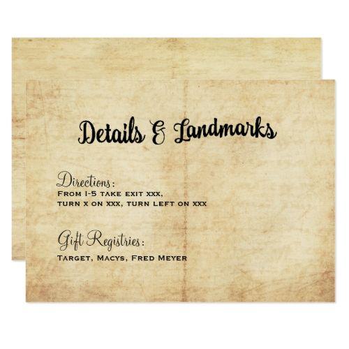 18 best wanderlust wedding invitation images on pinterest rustic vintage adventure wedding details card stopboris Gallery