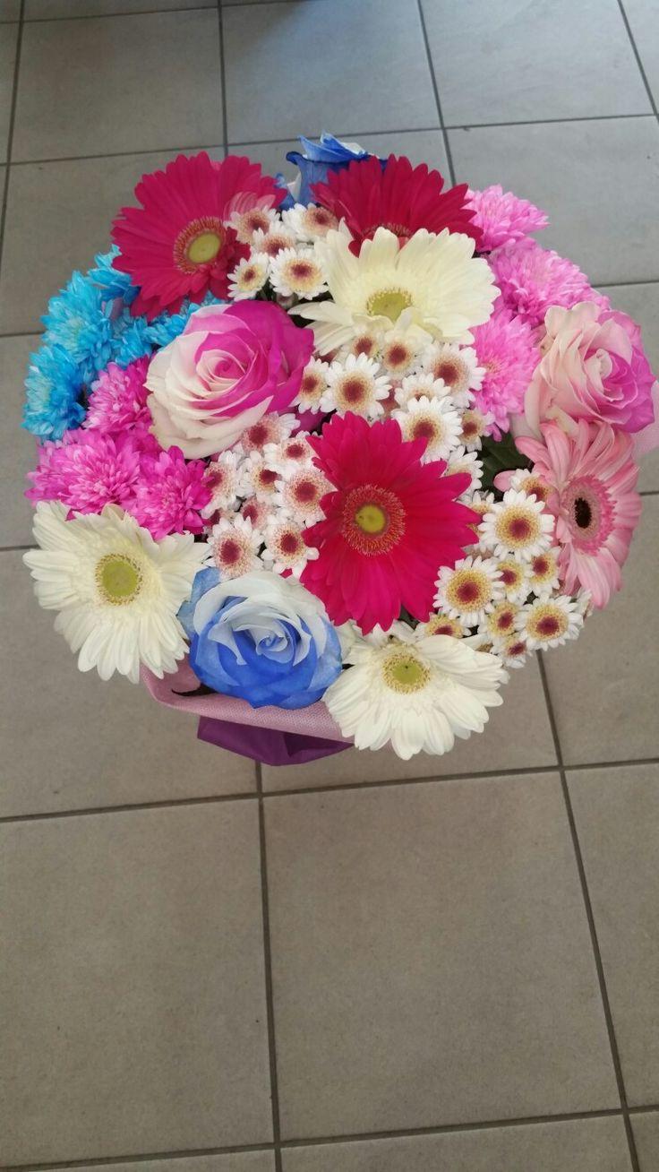 Μπουκέτο από πολύχρωμα λουλούδια