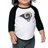 Football Los -Angeles-Rams-logo Boys Girls 3/4 Sleeve Raglan T Shirt Baseball