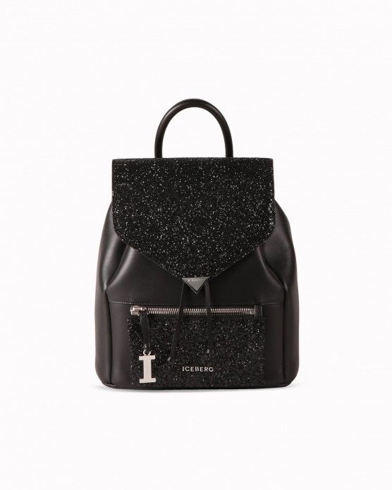 Backpack with glitter-effect details Iceberg  #Iceberg #backpack #glitter #handbags #fashion #style #stylish #love #socialenvy #me #cute #photooftheday #beauty #beautiful #instagood #instafashion #pretty #girl #girls #styles #outfit #shopping