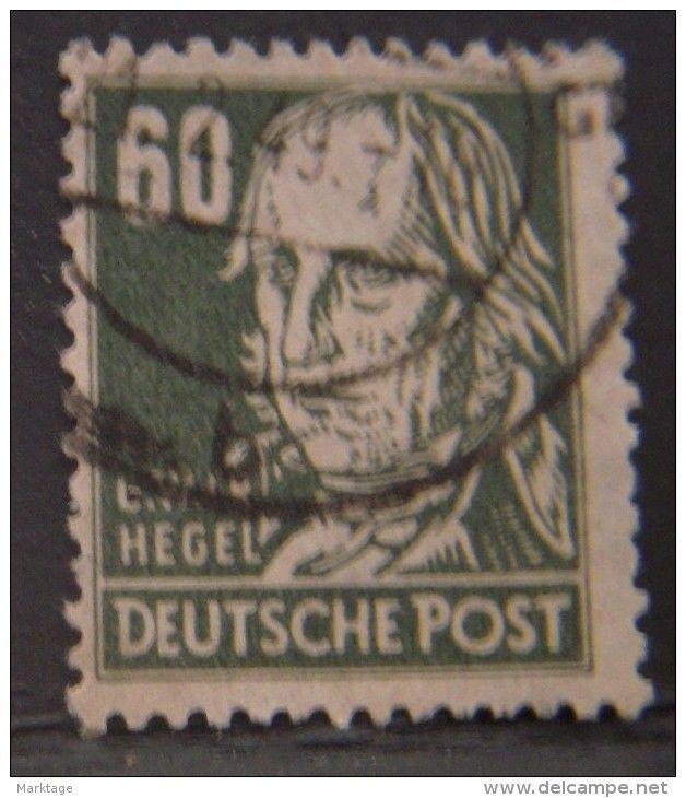 1949 Russian zone,deutsche post,F.Hegel,briefmark timber