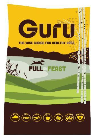 Guru Duck, Sea Fish & Vegetables Cold Pressed Dog Food. Guru believe that your four legged friend deserves natural food full of natural ingredients.