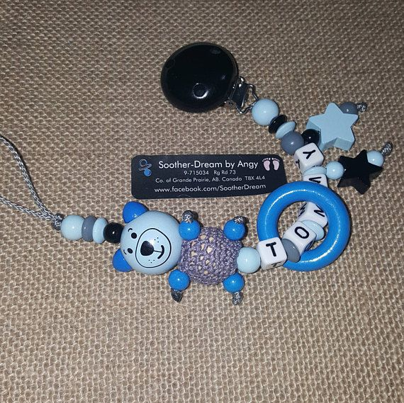 3D Soother chain Pacifier holder personaized Pacifier Clip