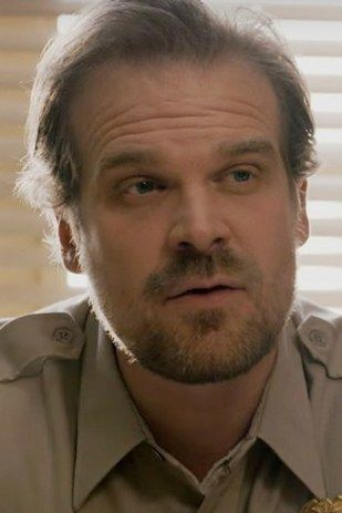 """David Harbour as Chief Hopper   This What The """"Stranger Things"""" Cast Looks Like…"""