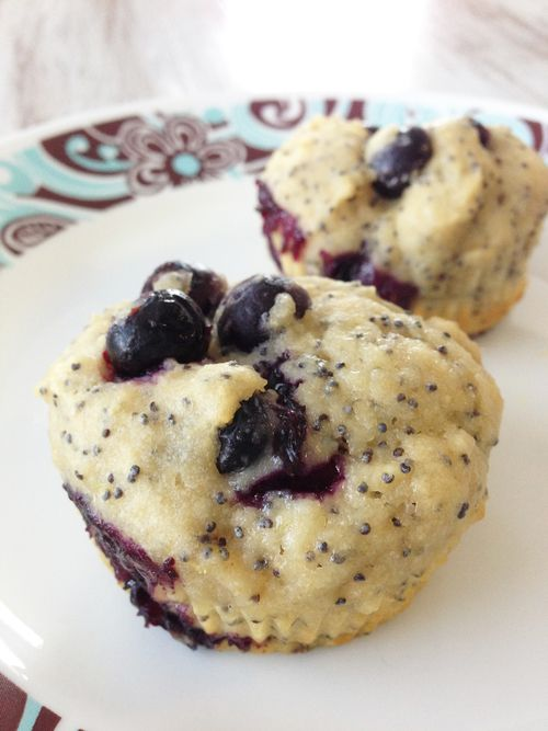Healthified Lemon Blueberry Poppy Seed Muffins — The Skinny Fork *change a few things to make them cleaner*