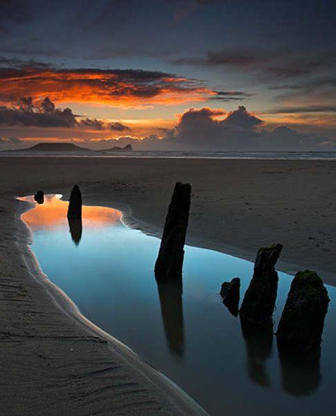 Rhossili Bay,Gower Peninsula,UK: