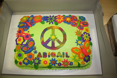 tie dye zebra cakes   Free Peace Sign Birthday Cake Ideas Tye Dye Wallpapers Picture