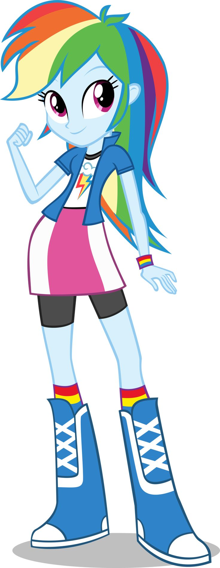 Inspiration for a Rainbow Dash Costume from the New Equestria Girls Movie