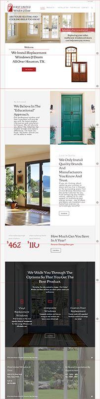 Web Design Client - First United Window & Door - Katy Texas Based Replacement Window and Door Company