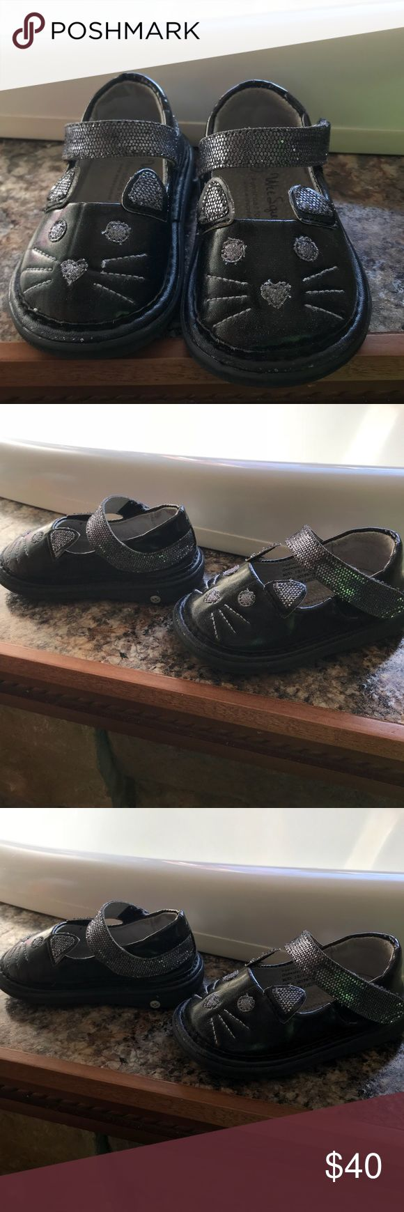We Squeak Size 5 Shoes These are squeaky shoes every step they do squeak worn a few times good condition tho ! we Squeak Shoes Baby & Walker