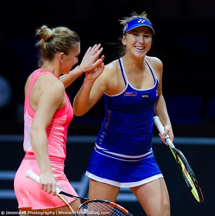 https://flic.kr/p/s5zm5F | Belinda Bencic & Simona Halep | Porsche Tennis Grand Prix 2015 - WTA Premier (Stuttgart, Germany)  www.j48tennis.net