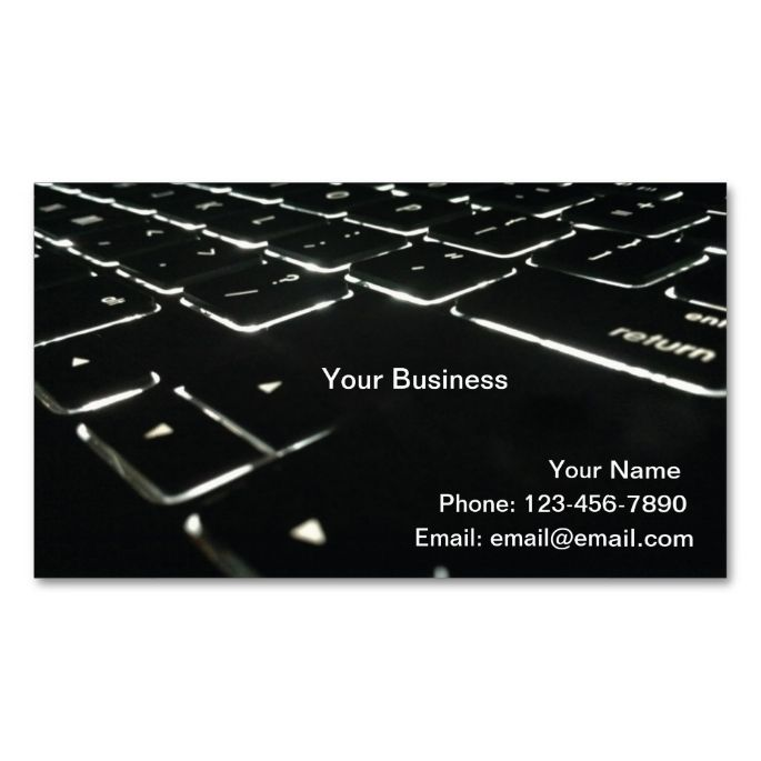 Backlit Double-Sided Standard Business Cards (Pack Of 100). I love this design! It is available for customization or ready to buy as is. All you need is to add your business info to this template then place the order. It will ship within 24 hours. Just click the image to make your own!
