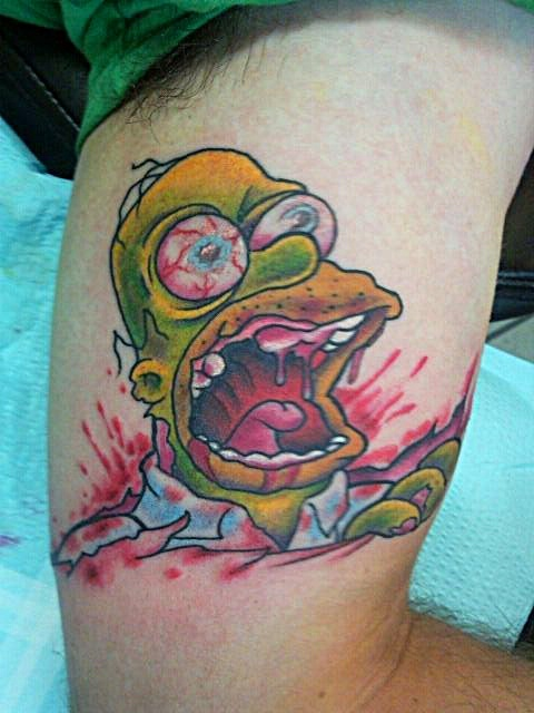 35 best images about comic strip tattoo on pinterest for Homer simpson tattoos