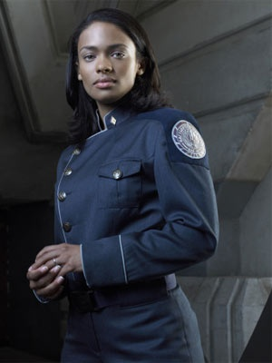 Kandyse Mcclure is BSG. A good character, but I wanted to point out this uniform makes so much more sense than most seen in SF