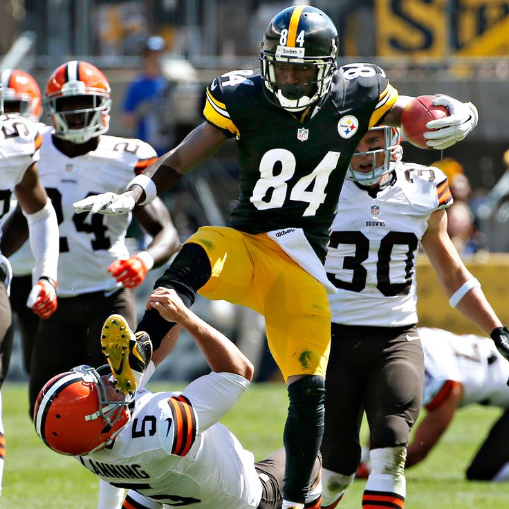 antonio brown kicking browns kicker in face
