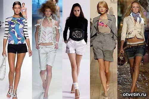 Летние шорты до колен