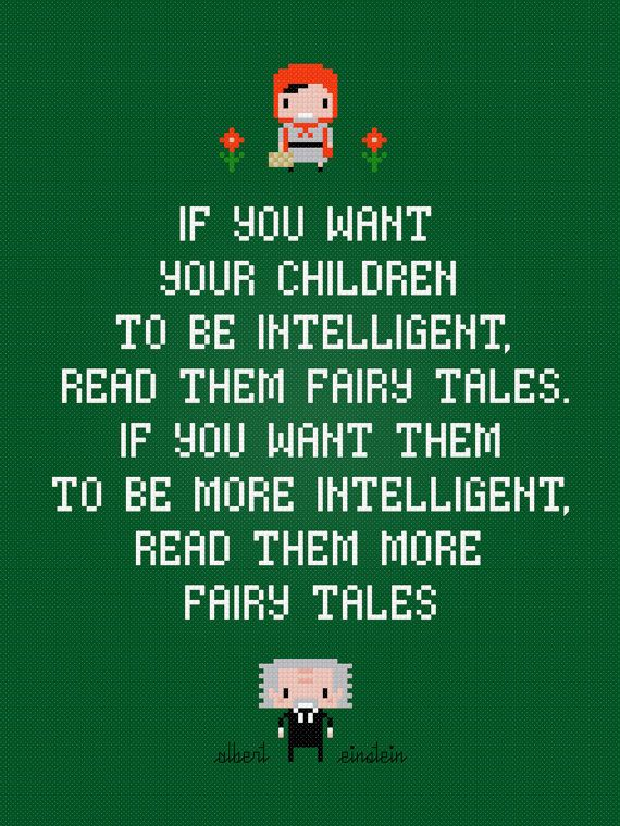Albert Einstein quote: Fairy tales cross stitch pattern: Patterns Downloads, Stitches Patterns, Fairy Tales, Tales Crosses, Crosses Stitches, Albert Einstein Quotes, Stitches Pdf, Pdf Patterns, Fairies Tales