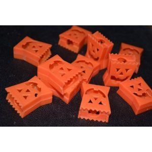 "2 Packages of Mini Pumpkin Halloween Light Covers - Total of 40 Light Covers by MTC. $4.95. 40 Mini Light covers (lights not included). Size: 1"". Easily slip these mini plastic Halloween light bulb covers over any mini string lights to turn your lights into Halloween decorations."