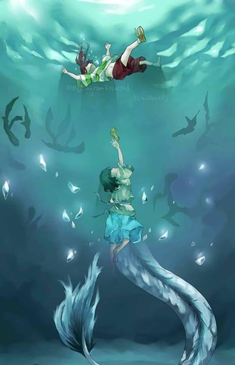 Spirited Away - Haku and Chihiro ------ Her shoe is PINK not YELLOW, BT-DUBS!