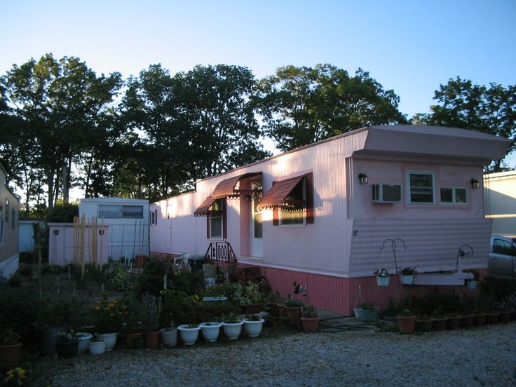 Pink Mobile Home Mobile homesCottage Pickens Pinterest