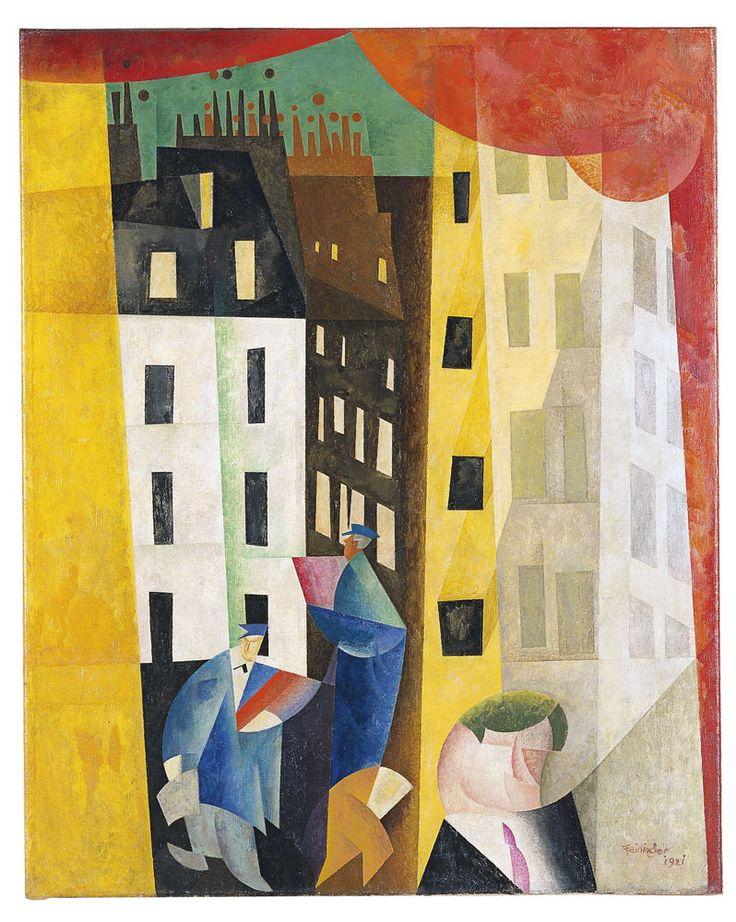 herzogtum-sachsen-weissenfels:  Lyonel Feininger (German-American, 1871-1956), Architecture II (The Man from Potin), 1921.Oil on canvas, 101 x 80.5 cm.