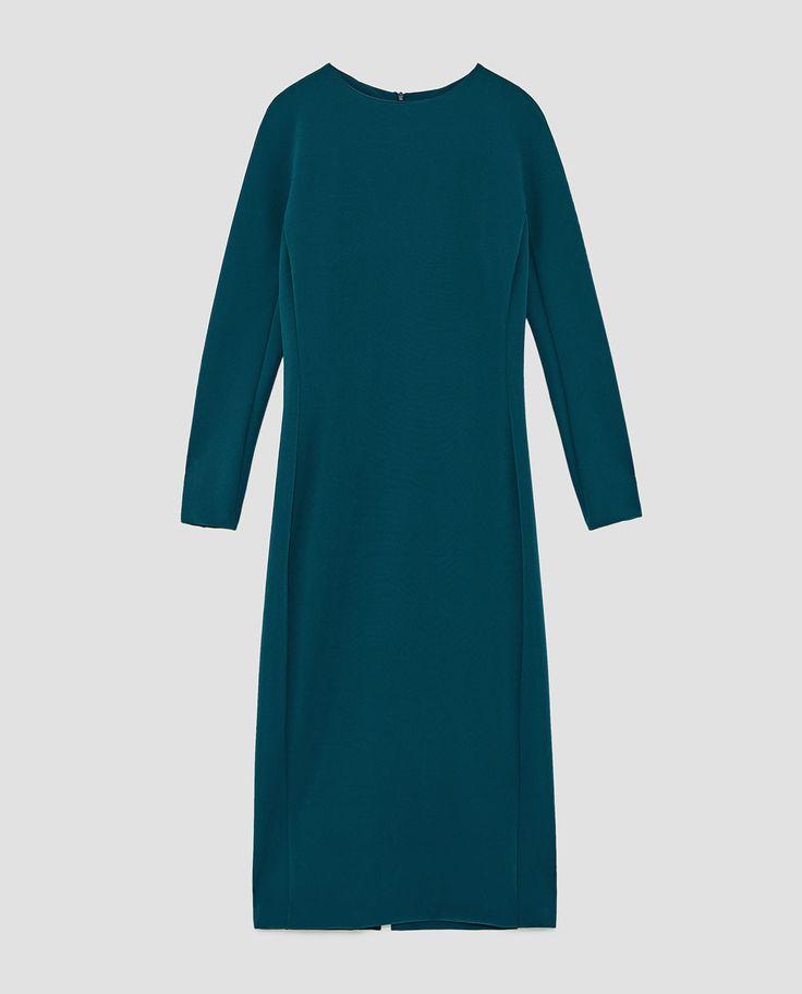 image 8 of midi shift dress from zara