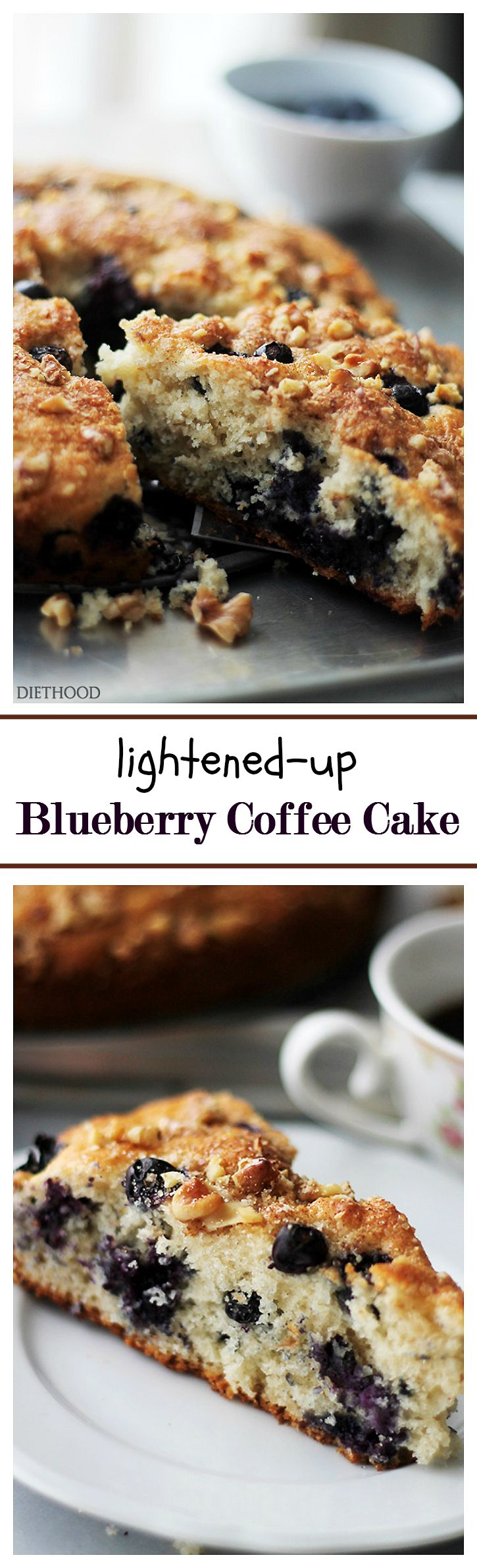 LightenedUp Blueberry Coffee Cake