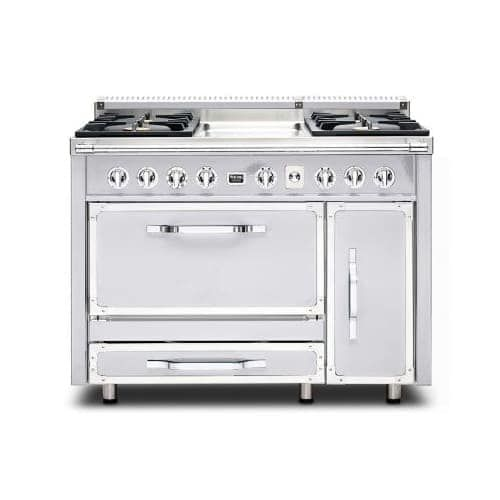 Viking TVDR4804G 48 Inch Wide 6.2 Cu. Ft. Free Standing Dual Fuel Range with SureSpark Ignition System, Four Natural Gas