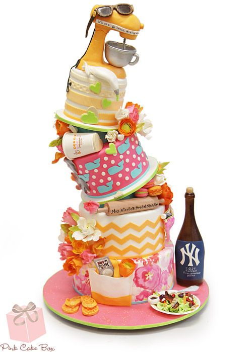 Nicole's Bridal Shower Cake | http://blog.pinkcakebox.com/nicoles-bridal-shower-cake-2014-05-19.htm