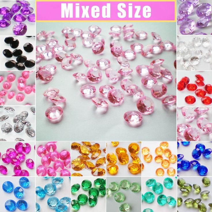 5000 Mixed Wedding Party Decoration Scatter Table Crystal Diamond Confetti Beads | Home, Furniture & DIY, Wedding Supplies, Confetti | eBay!