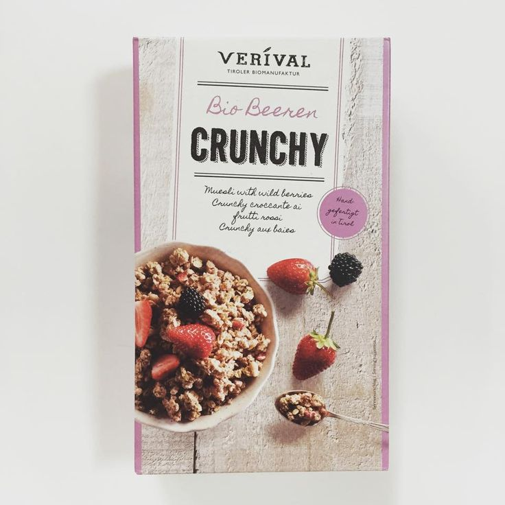Muesli Crujiente con Frutas Silvetres Eco.  Crujiente copos de avena, azúcar de remolacha, grasa de palma, coco rallado, sal y arroz inflado. Fruta seca 1,5%: moras, frambuesas y fresas. Polvo de mora 1%. #desayunossaludables #muesli #crunchy #yummy #lanzarotesecuida #lanzarote #desayuno #cereales
