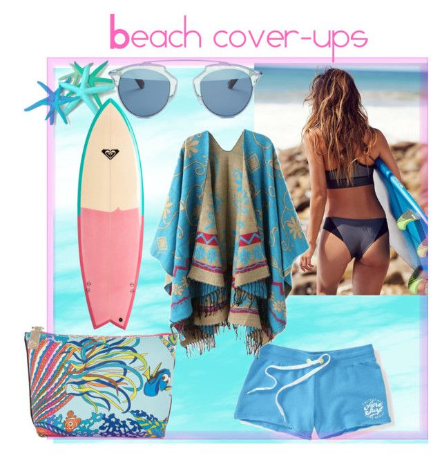 Beach cover-ups by sarks on Polyvore featuring polyvore, fashion, style, Free People, Aéropostale, Christian Dior, Trina Turk, Quiksilver, clothing and coverups