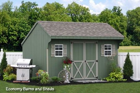Amish garden sheds sheds vinyl storage shed kit prefab for Prefab garden buildings