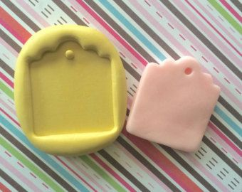 PLAQUE Tag Silicone MOLD - Cupcake Topper, Plaque Mold, Cake Decoration, Resin Mold, Chocolate Mold, Candy Mold, Fondant Mold, Craft DYI