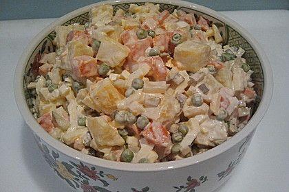 Polnischer Gemüsesalat mit Mayonnaise (Rezept mit Bild) | Chefkoch.de