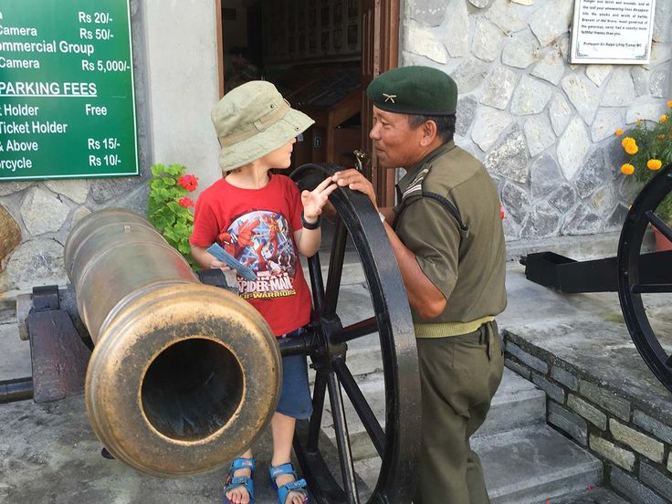 At the museum of the legendary Gurkha Regiments, Pokhara