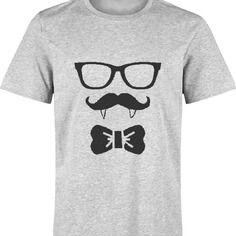 T-shirt halloween vampire moustache pour homme s à xxl - différents coloris
