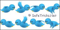 Twitter Flying bird for blogger