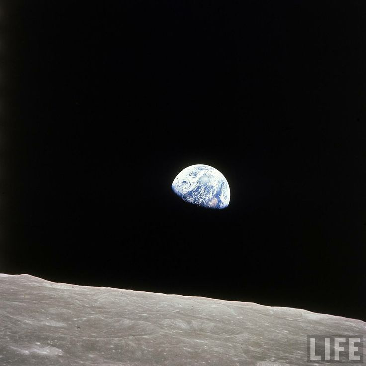 Earth seen from the Moon (Apollo 8) | The Last Charge ...