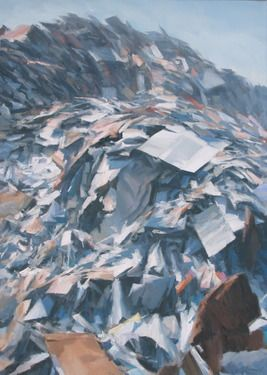 "Saatchi Online Artist Andrea Mancini; Painting, ""#1352 Paper"" #art"