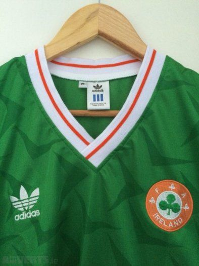 Ireland Jersey Italia 90 Replica, Used Men's Football Gear For Sale in Baldoyle, Dublin, Ireland for 40.00 euros on Adverts.ie.