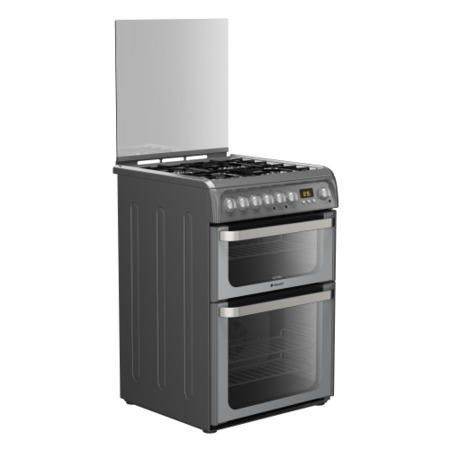 Buy Hotpoint HUD61GS Ultima 60cm Double Oven Dual Fuel Cooker - Graphite from Debenhams Plus