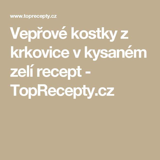 Vepřové kostky z krkovice v kysaném zelí recept - TopRecepty.cz