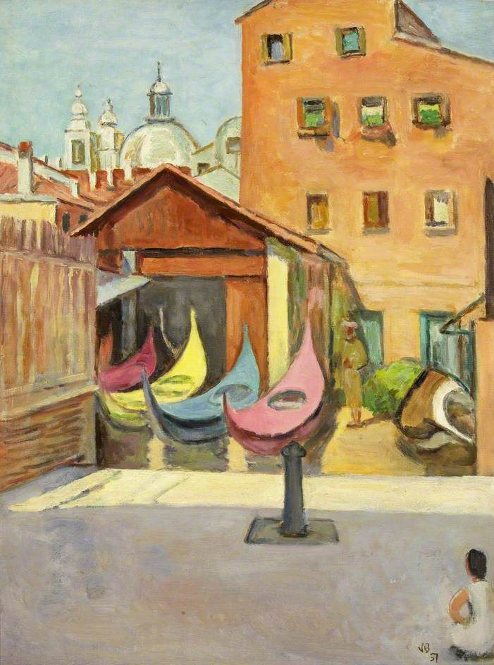 The Boat Painter's Yard by Vanessa Bell