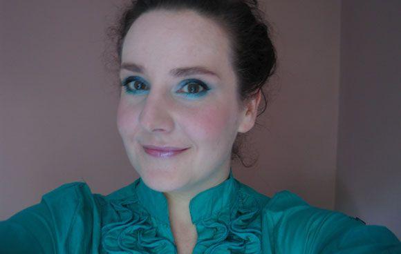 zöld és kék tartós és gyors szemfestés